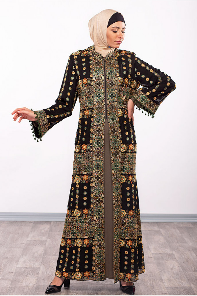 Elegant Formal Black Abaya