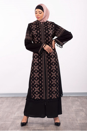Embroidery Layers Abaya