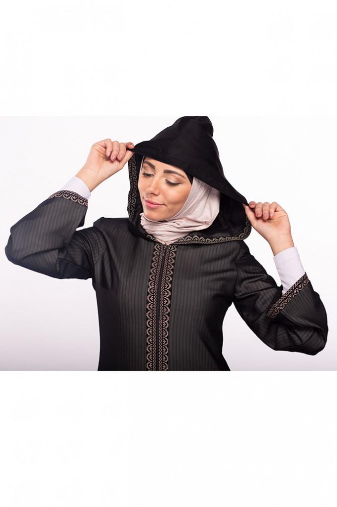 Gray Casual Abaya