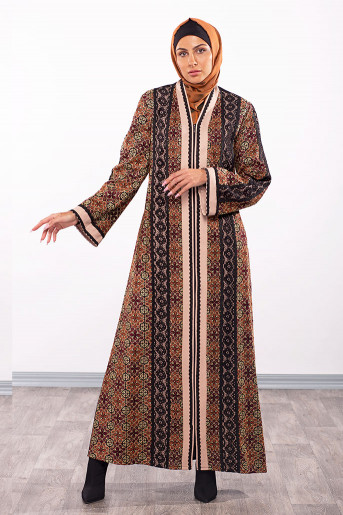 Colored Embroidery Abaya