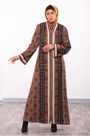 Colored Embroidery Abaya