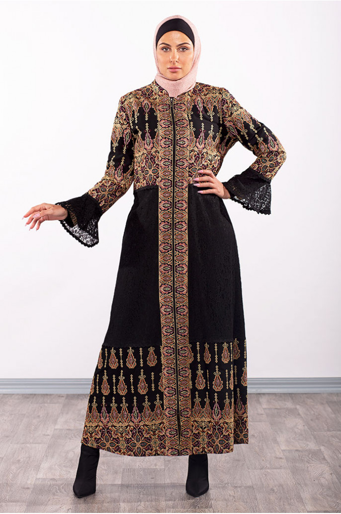 Dress Embroidery Abaya