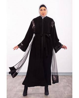 A Stylish Belt Designed Abaya