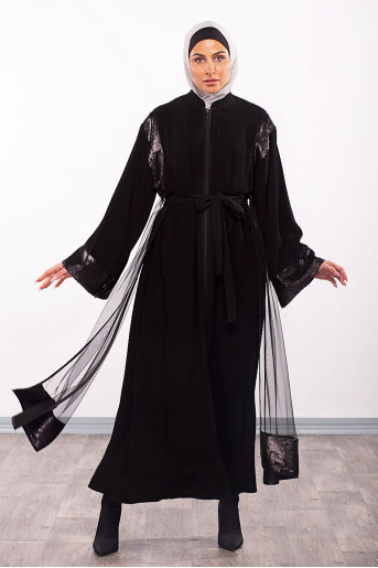 A Stylish Belt Designed Abaya