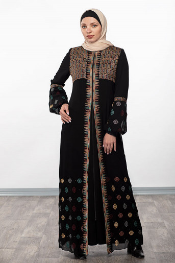 Simple Embroidery Abaya