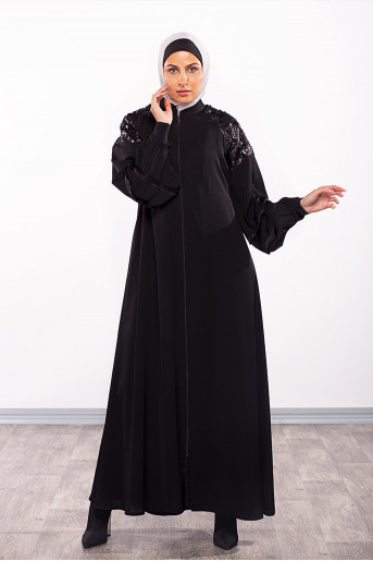 Abaya with soft texture on top