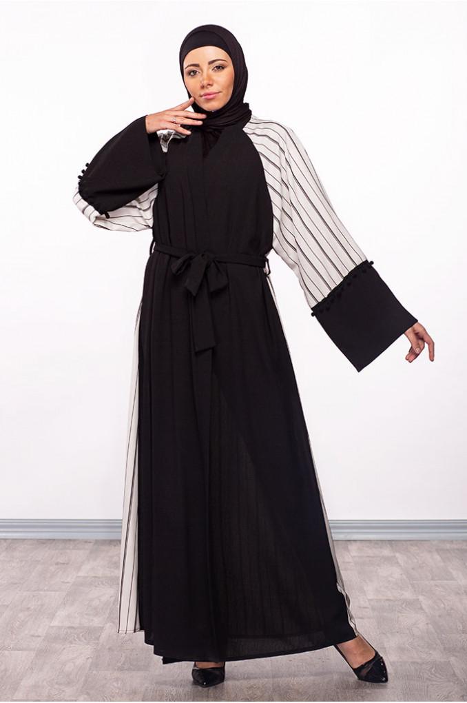 Modern Black Abaya