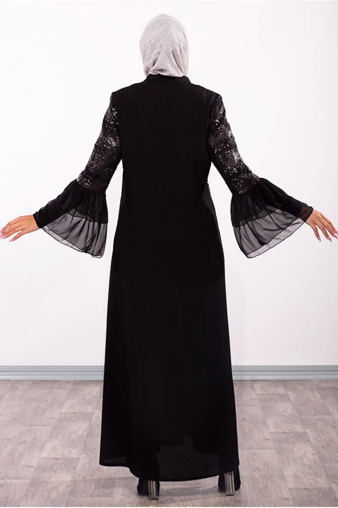 Chiffon Wrist Abaya
