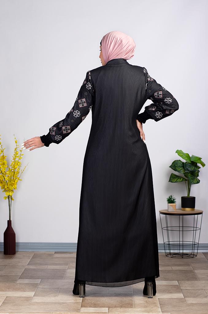Semi Formal Striped Abaya