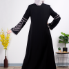 Casual Black embroidered Abaya