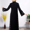 Elegant Black Abaya with Subtle Pattern