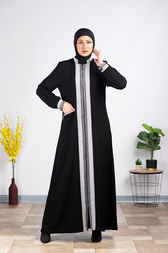 Elegant Semi Formal Black Abaya