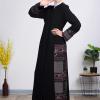 Elegant Black Abaya with beautiful embroidery