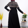 Embroidered Black Fursan Abaya
