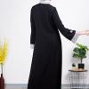 Semi Formal Abaya With Elegant Subtle And Flower Design