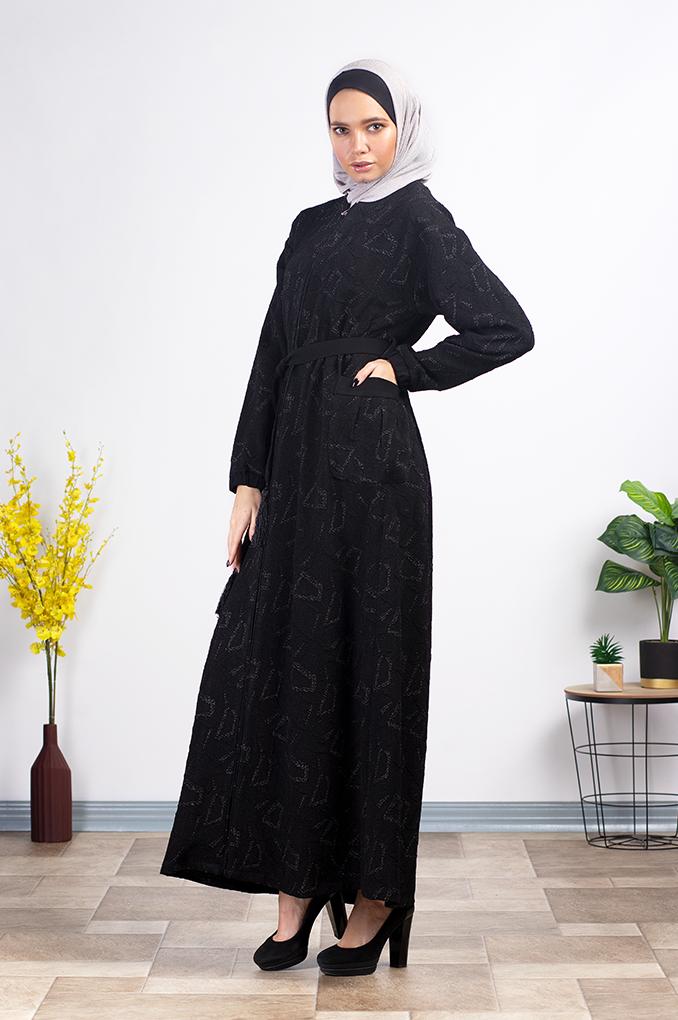 Elegent casual Black modern Abaya