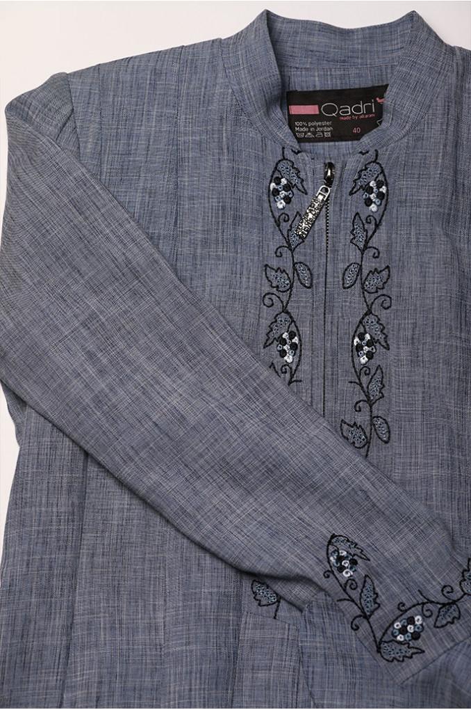 Blue Embroidered Jilbab