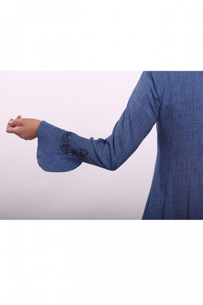 Blue Embroidered Jilbab