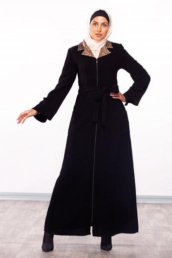 Colored-Neck Jilbab