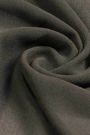 Dark Silver Polyester Scarf