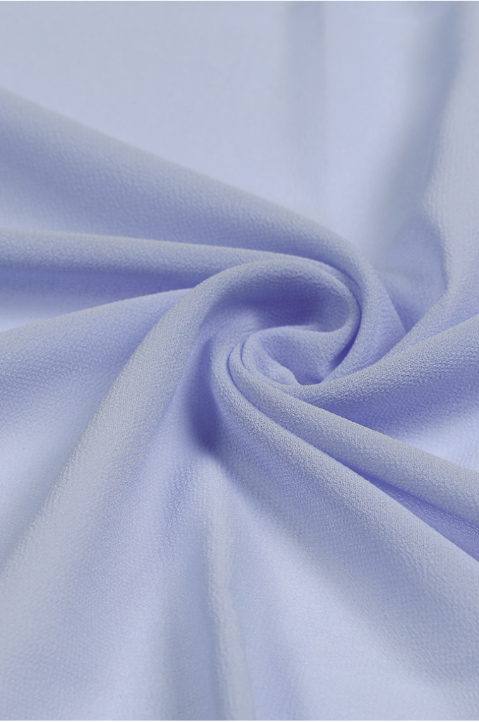 Soft Blue Polyester Scarf
