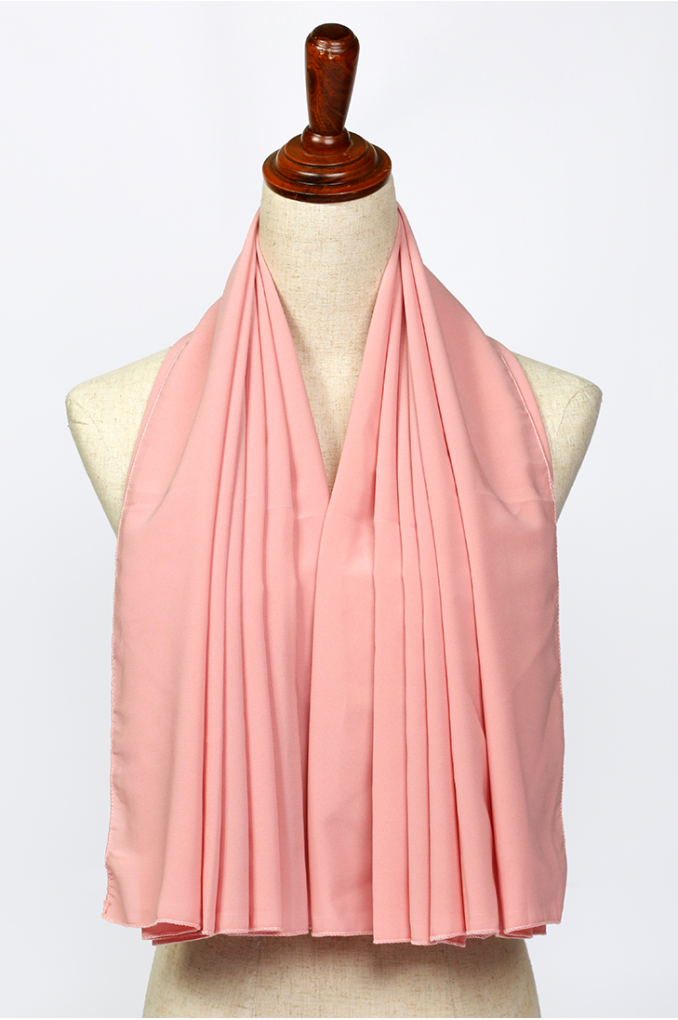 Bright Pink Polyester Scarf