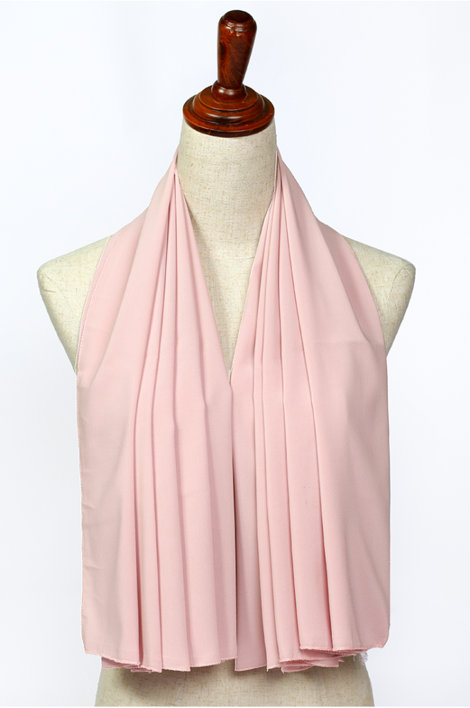 Soft Pink Polyester Scarf