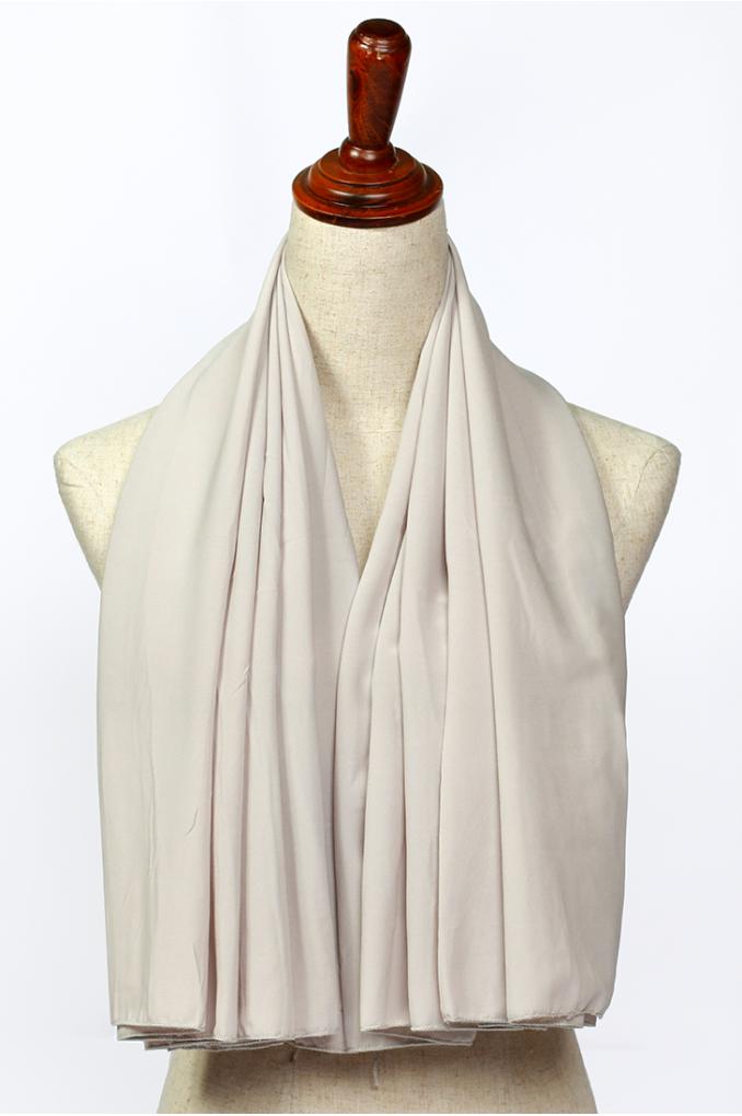 White Polyester Scarf