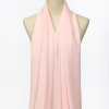Baby-Pink Polyester Scarf