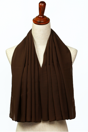 Brown Polyester Scarf