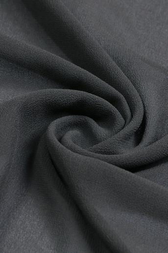Dark-Gray Polyester Scarf