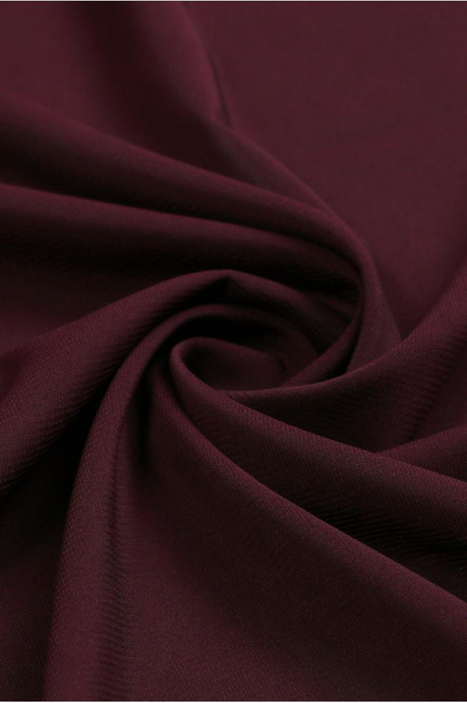 Vinous polyester Scarf