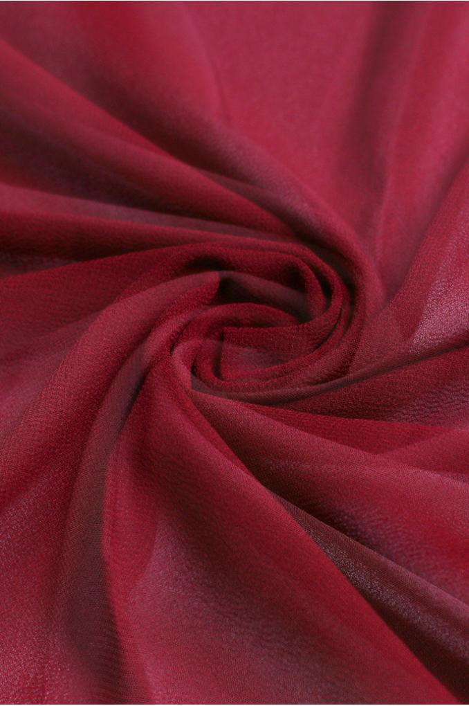 Red Polyester Scarf
