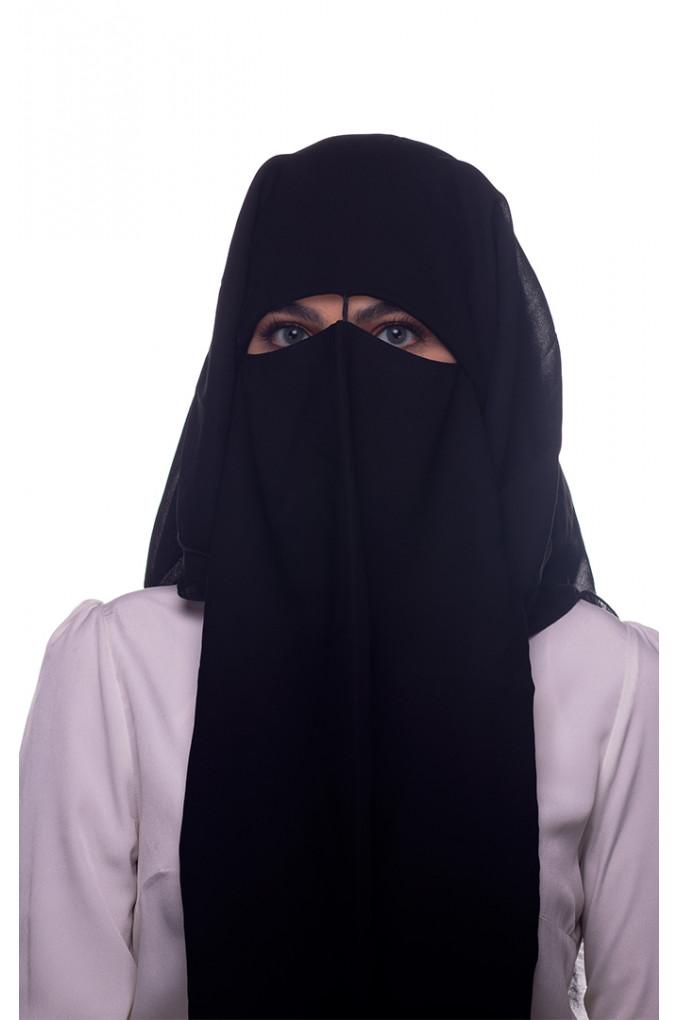 Black Niqab chiffon