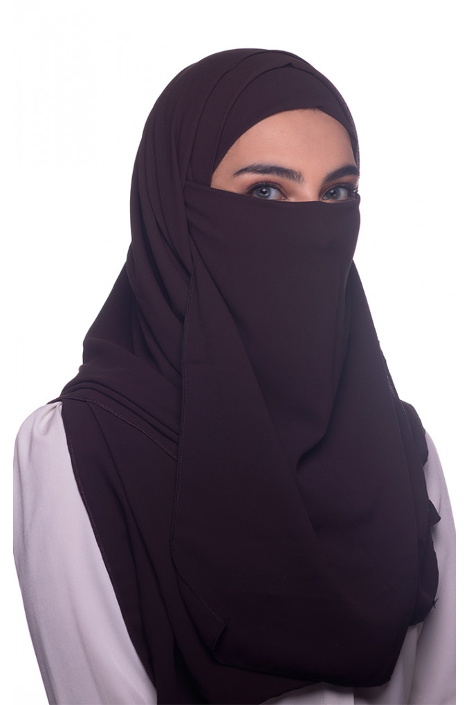 Black plain Georgette Niqab