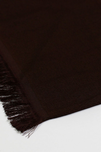 Dark-Brown Silk Scarf