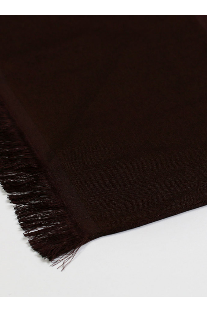 Dark-Brown Silk Scarf