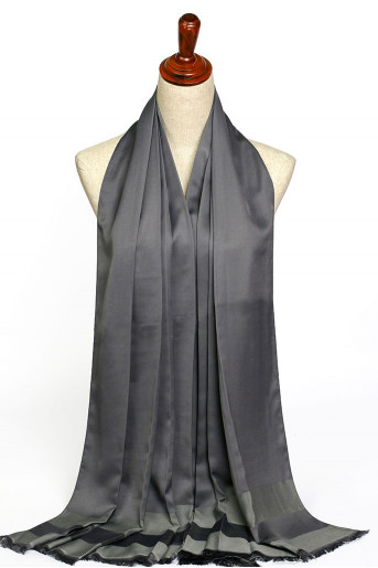 Dark-Gray Silk Scarf