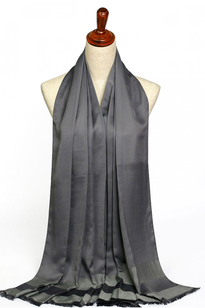 Dark-Gray Silk Scarf