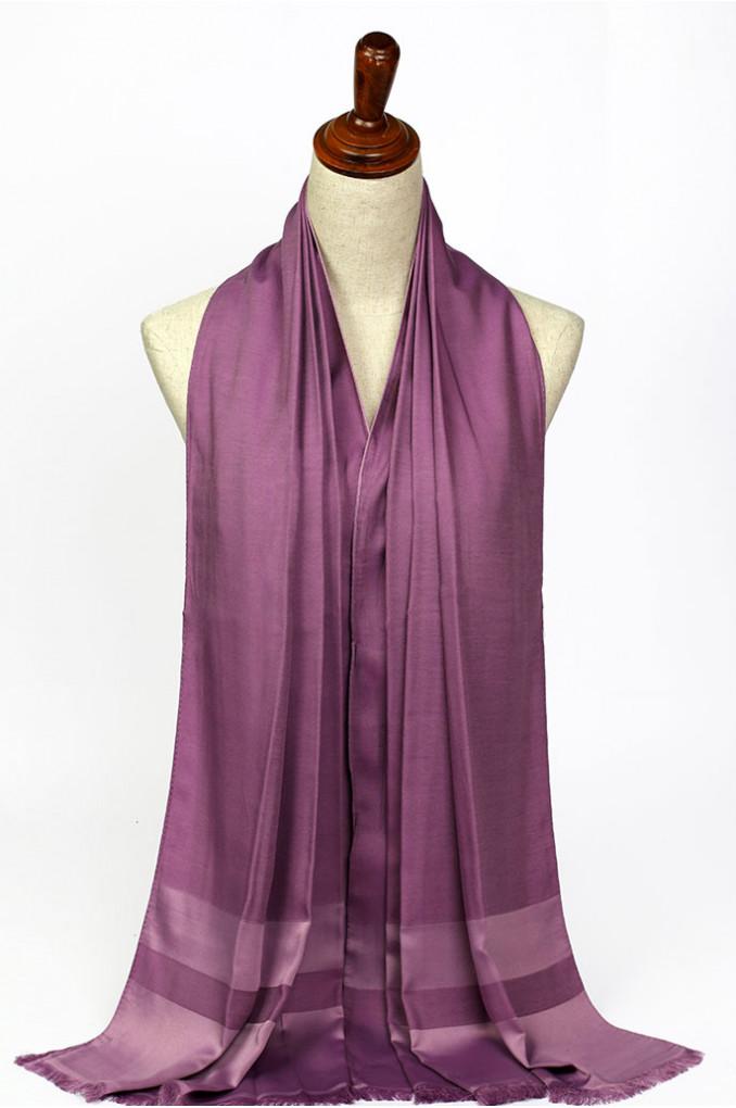 Dark-Pink Silk Scarf