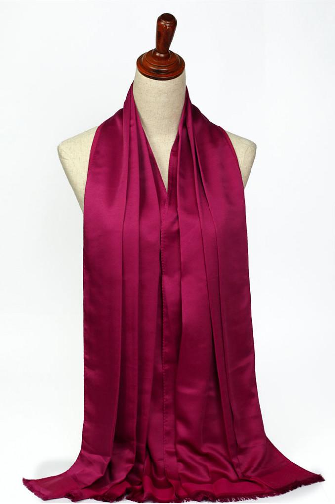Fushia Silk Scarf