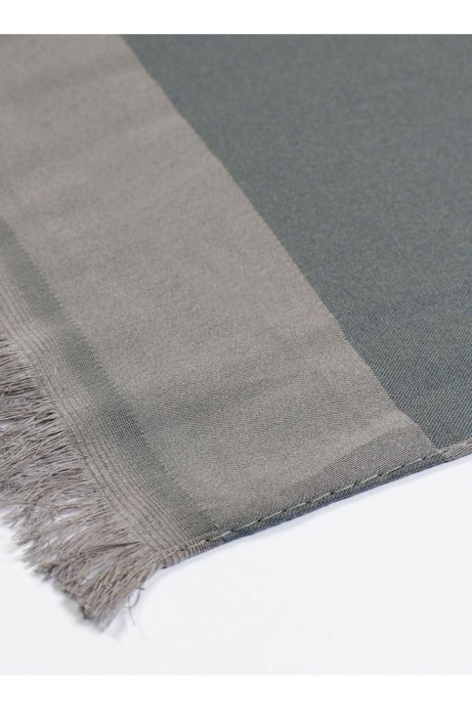 Bright Gray Silk Scarf