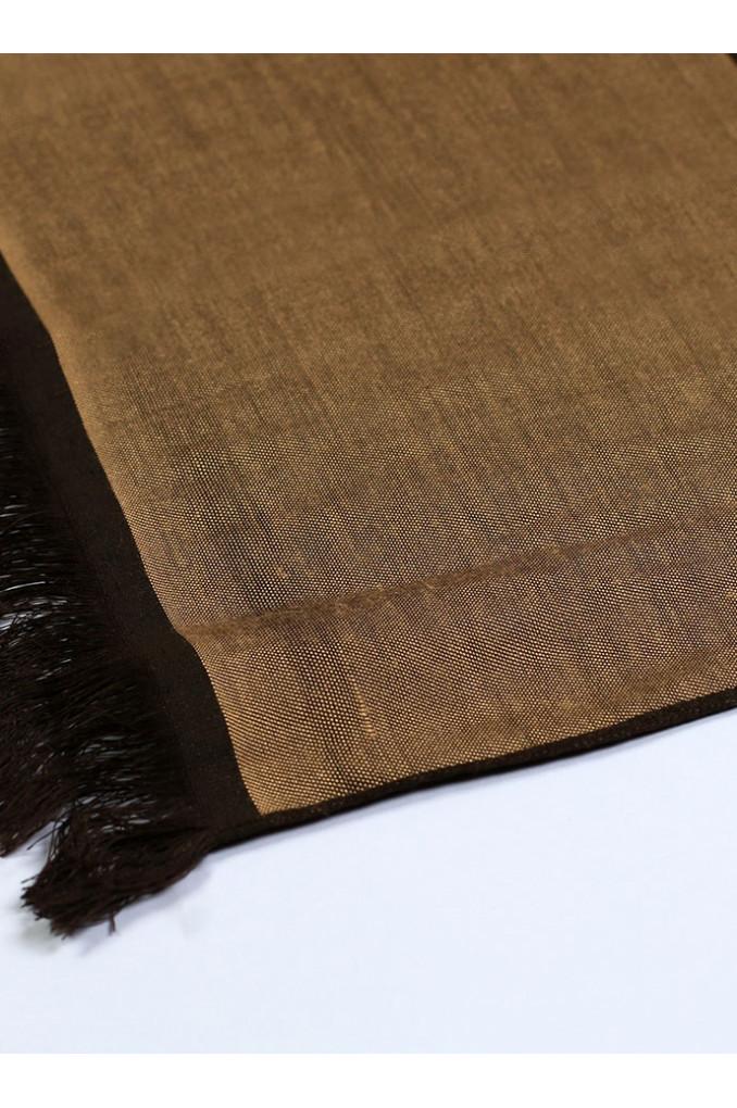Multi-Brown Silk Scarf