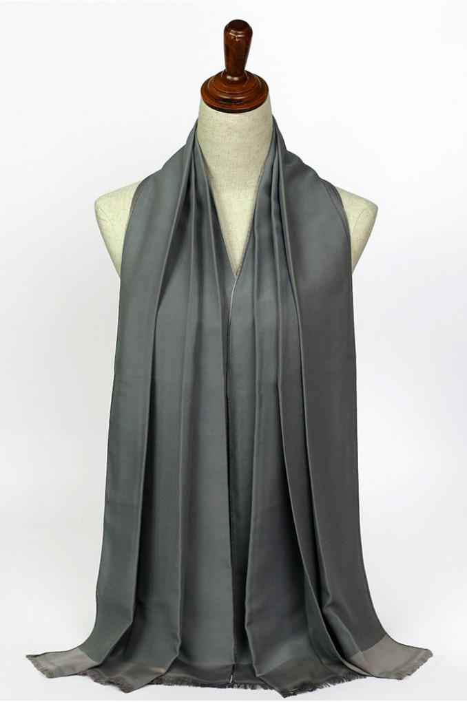 Multi-Gray Silk Scarf