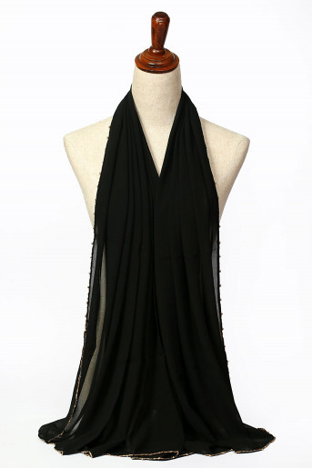 Black Plain Scarf