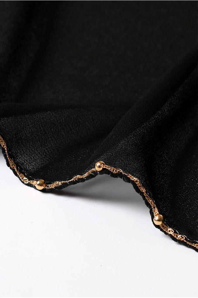 Black Plain Scarf