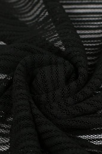 Black Jacquard Scarf