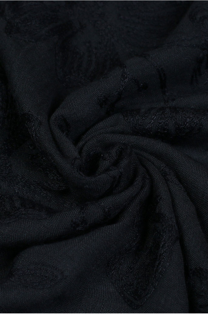 Dark-Blue Jacquard Scarf
