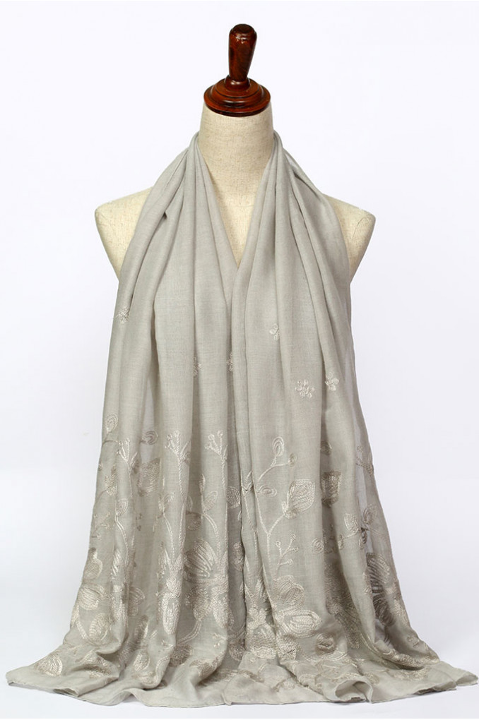 Gray Plain Scarf