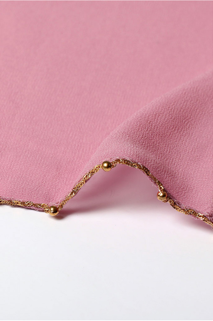 Pink Plain Scarf